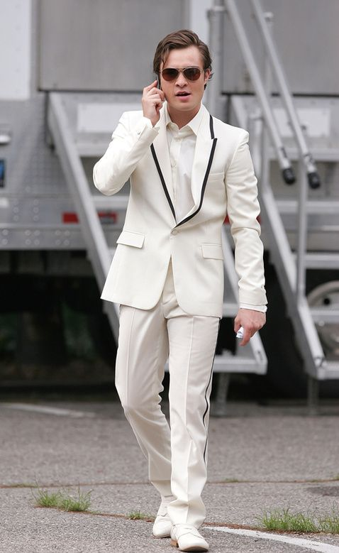 Of Course I\'m Wearing A White Tuxedo. I\'m Chuck Bass.\