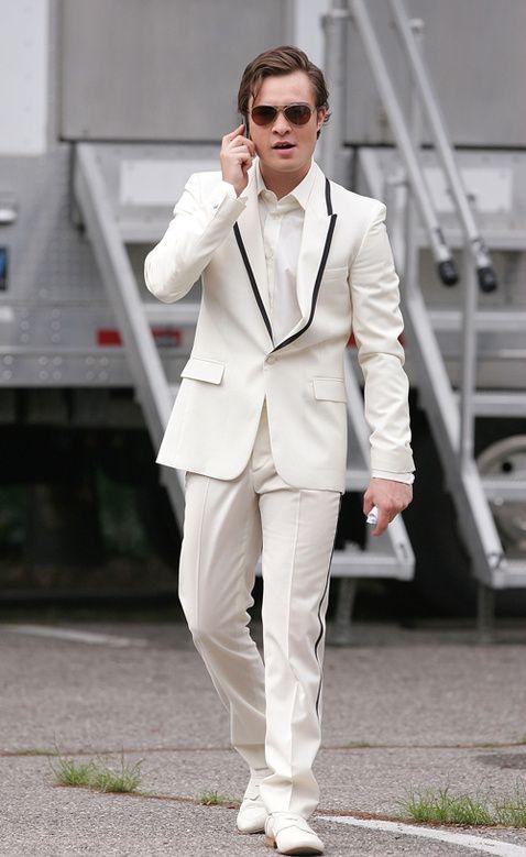 Of Course I\'m Wearing A White Tuxedo. I\'m Chuck Bass.\