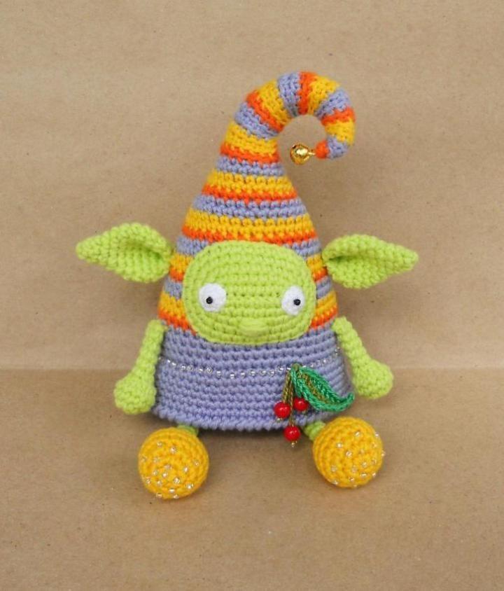 Crochet elf doll amigurumi pattern   Zwischenablage, Gehäkelte tiere ...