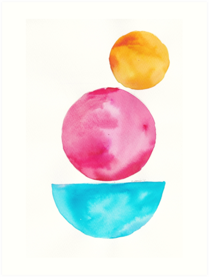 5 181122 Simple Geometry Shapes Geometric Watercolor