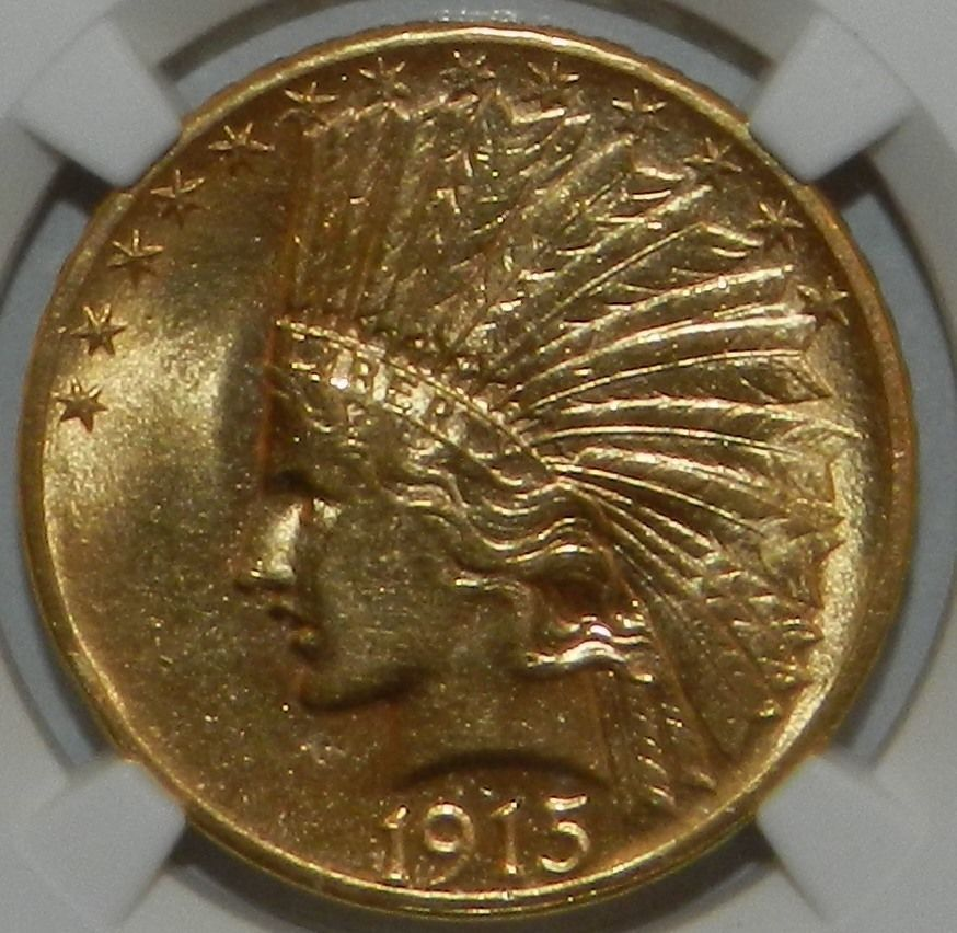 1915 10 Dollar Gold Indian Head Ngc Ms58 Indian Head Gold 10 Things