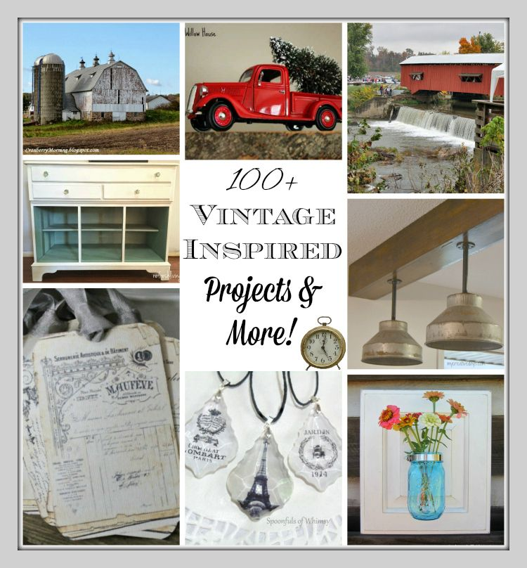 Vintage Decor, DIY, & Repurposed Projects Link Party - see more at KnickofTime.net