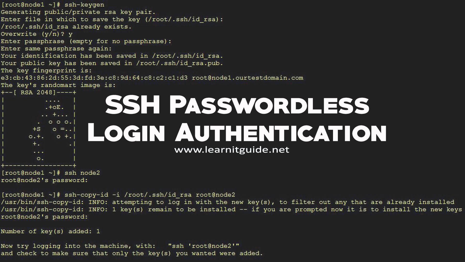 How to Configure SSH Passwordless Login Authentication on