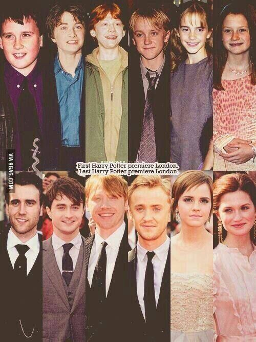 Harry Potter Cast Then And Now Harry Potter Cast Harry Potter Funny Harry Potter Jokes