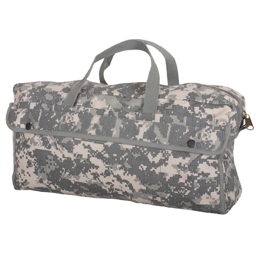 ADGAI Black and White Plaid Canvas Travel Weekender Bag,Fashion Custom Lightweight Large Capacity Portable Luggage Bag,Suitcase Trolley Bag