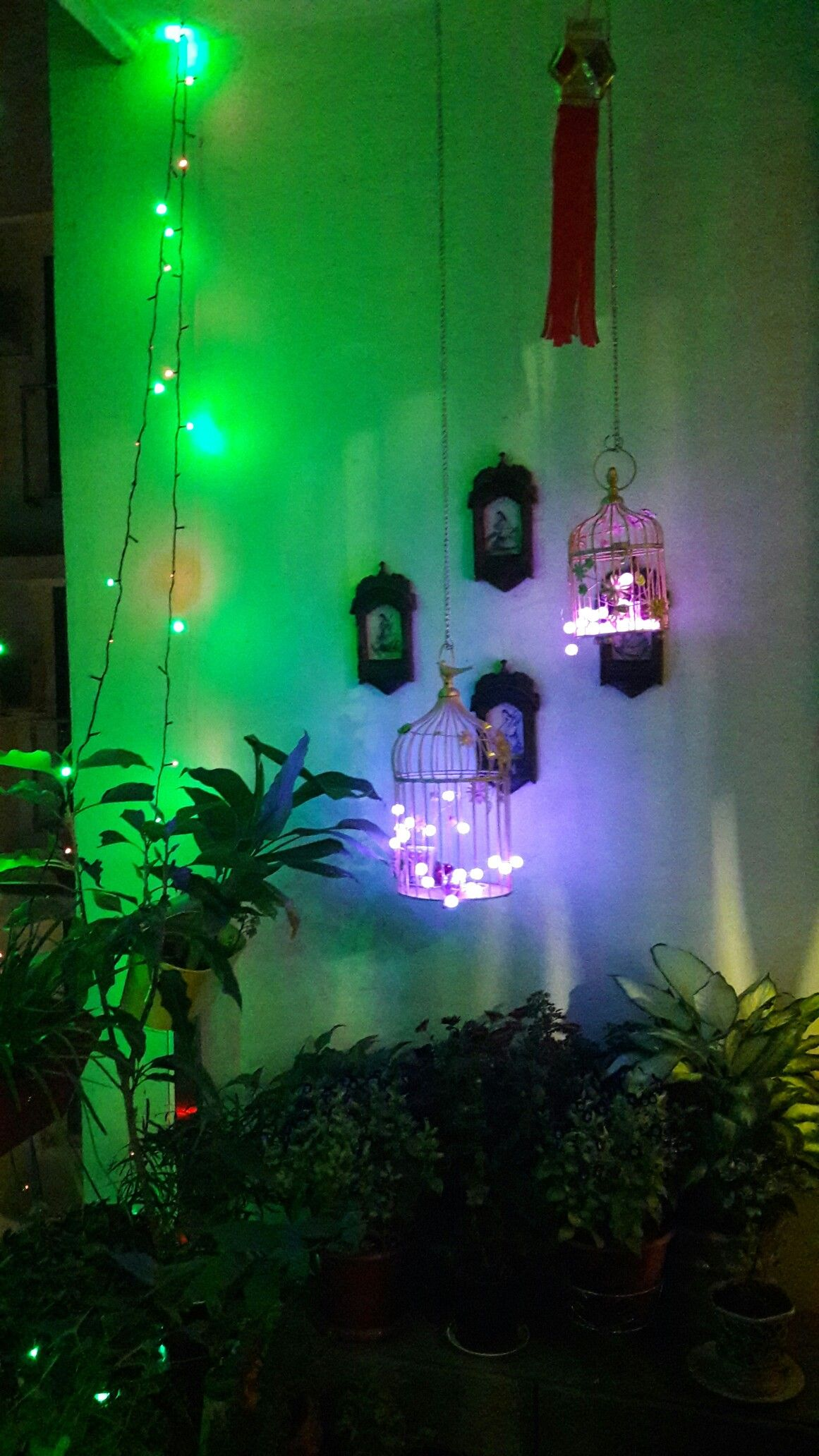 Balcony Ideas Diwali Light Decoration 1
