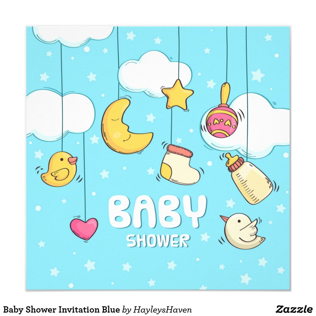 Cute Baby Shower Card Baby Shower Card Happy Baby Shower Card Cloud Baby Shower Card Baby Shower Congratulations Card