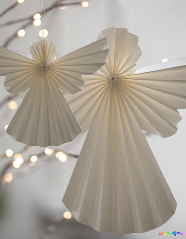 Pleated Paper Angel No Instructions