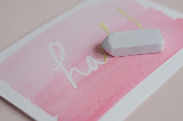 Beautiful cards, easy made with masking fluid.