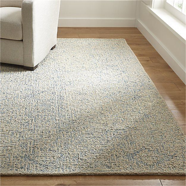 Trystan Blue Wool Blend 9 X12 Rug Rugs Natural Wool Rugs Sisal Linen Rug