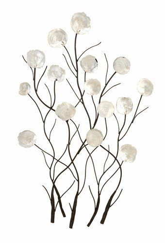 Please Note: This item has a handling time of up to 5 business days and does not ship to PO Boxes. Metal capiz make White and brown colors Graceful and brittle
