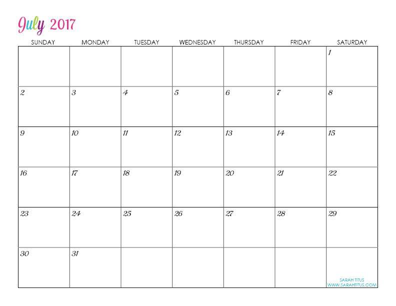 Custom Editable Free Printable 2017 Calendars Free printable