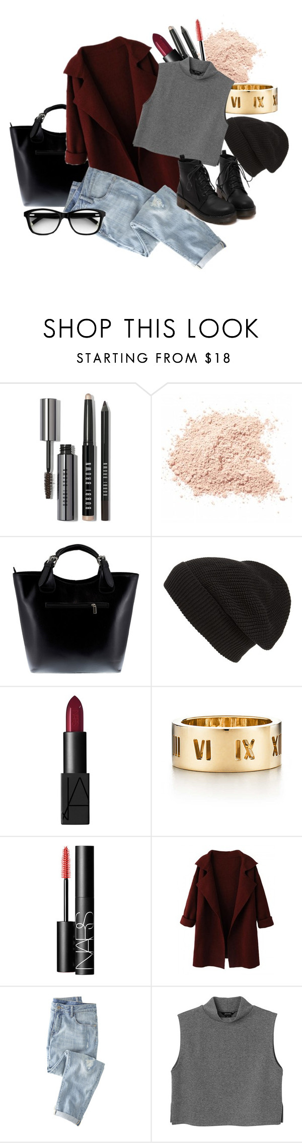 """""""City days :)"""" by aqus02 ❤ liked on Polyvore featuring Bobbi Brown Cosmetics, Massimo Castelli, Phase 3, NARS Cosmetics, Tiffany & Co., Wrap and Monki"""