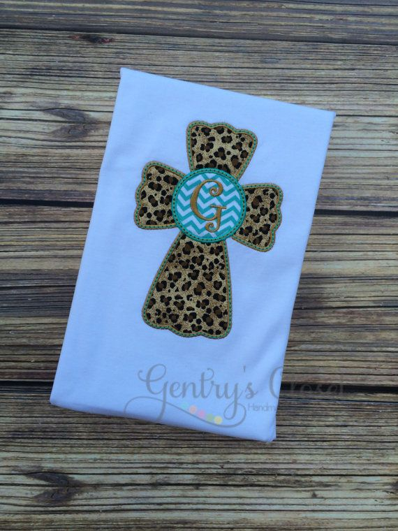 Monogrammed cheetah print and turquoise chevron by GentrysCloset
