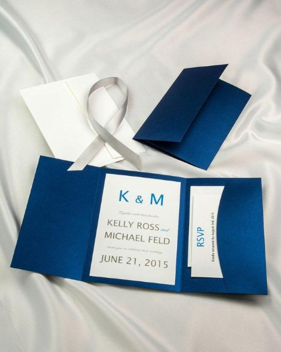 navy blue and kelly green wedding invitations%0A        ea  print yourself u   d        for    printing template including rsvp  Royal Blue    Diy Wedding Invitation