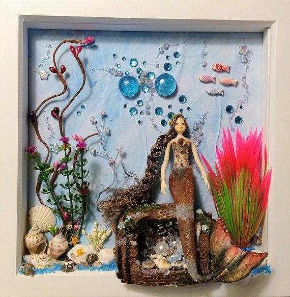 Mermaid Frame, Mermaid Wall Art, Mermaid Box Frame, Mermaid Gift ...