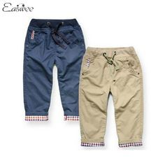 Pantalones Termicos Azul Y Crema Boys Casual Kids Pants Casual Trousers