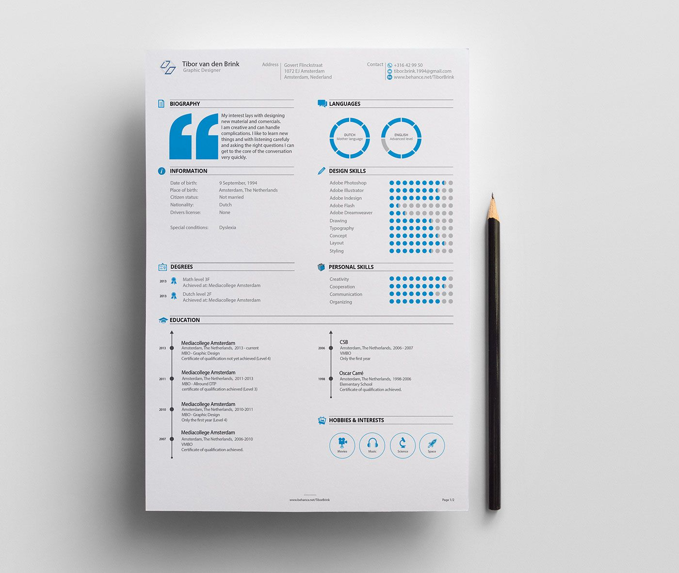 Personal Resume & Promotion on Behance | graphic | Pinterest ...