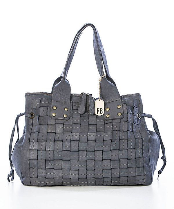Look at this Gray Woven Leather Shoulder Bag on #zulily today!