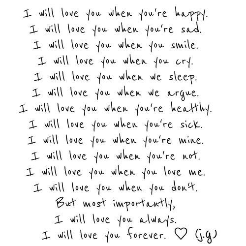 I Will Love You Love You More Quotes Why I Love You Ill Always Love You