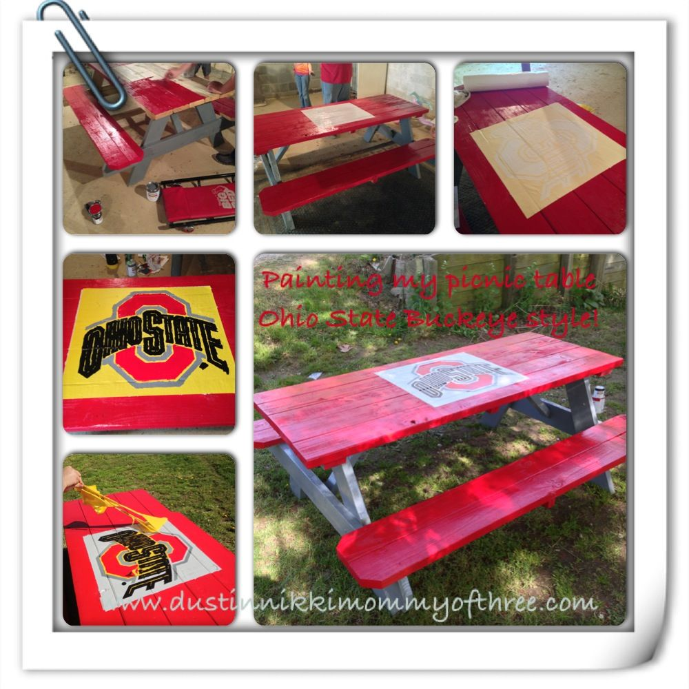 Do it yourself ohio state buckeye picnic table diy buckeyes do it yourself ohio state buckeye picnic table diy buckeyes ohiostate solutioingenieria Choice Image