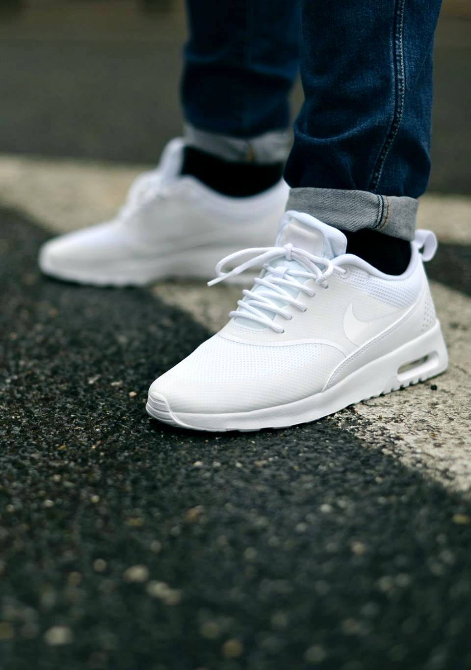 7655ccd6ddc308 Ultra Clean NIKE Air Max Thea All White Nike Free Shoes