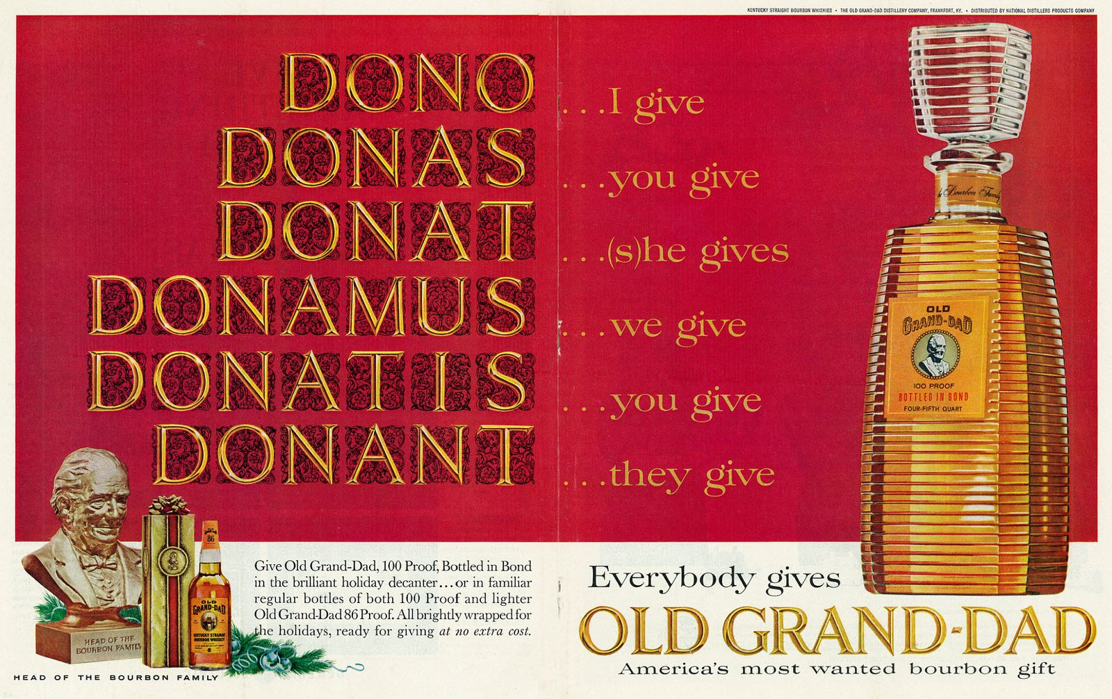 1963 Old Grand-Dad advertisement, via user Classic Film on Flickr (classic_film)