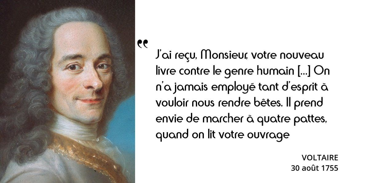 Citation terrible de Voltaire ! Mais à qui s'adresse-t-il ?