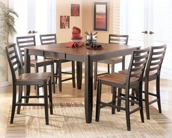 Alonzo Contemporary Two Tone Brown Butterfly Counter Extension Table By Famous Brand Furniture 53630 Pub TablesDining Room
