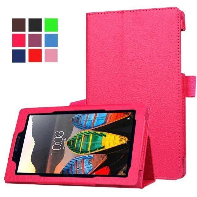 Magnet Lichi Pu Leather Case Cover For Lenovo Tab 3 7 Essential Tab 3 710f 710i 7 0 Inch Tablet Funda Cases Fundas Para Tablet Mochilas Para La Escuela Fundas