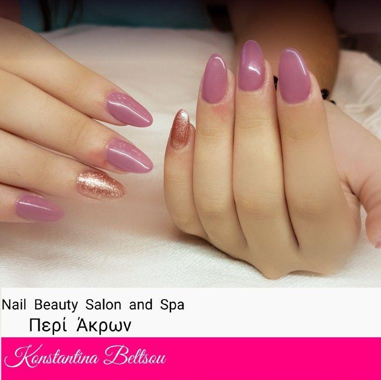 Gel nails, almond nails, nude pastel nails. | Nails by Konstantina ...