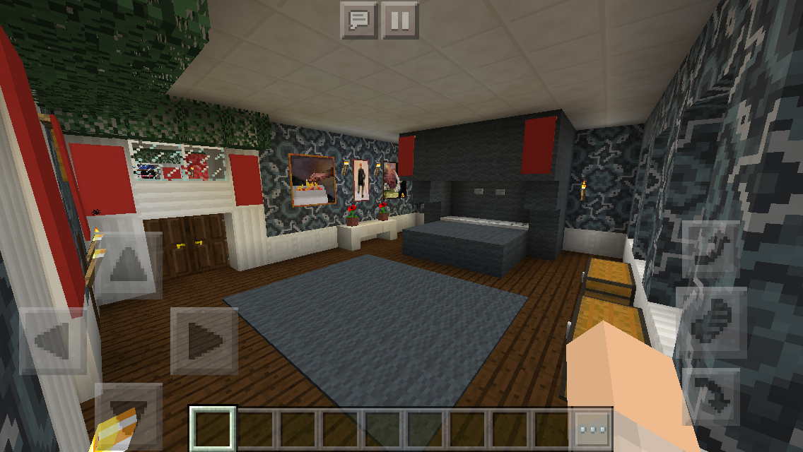 Minecraft: How to Decorate a Bedroom | Bedroom Interior ... |Minecraft Mansion Inside Bedroom