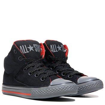 8e39370c6b5e Converse CTAS Shield Canvas High Street High Top Sneaker Black Signal  Red Thu