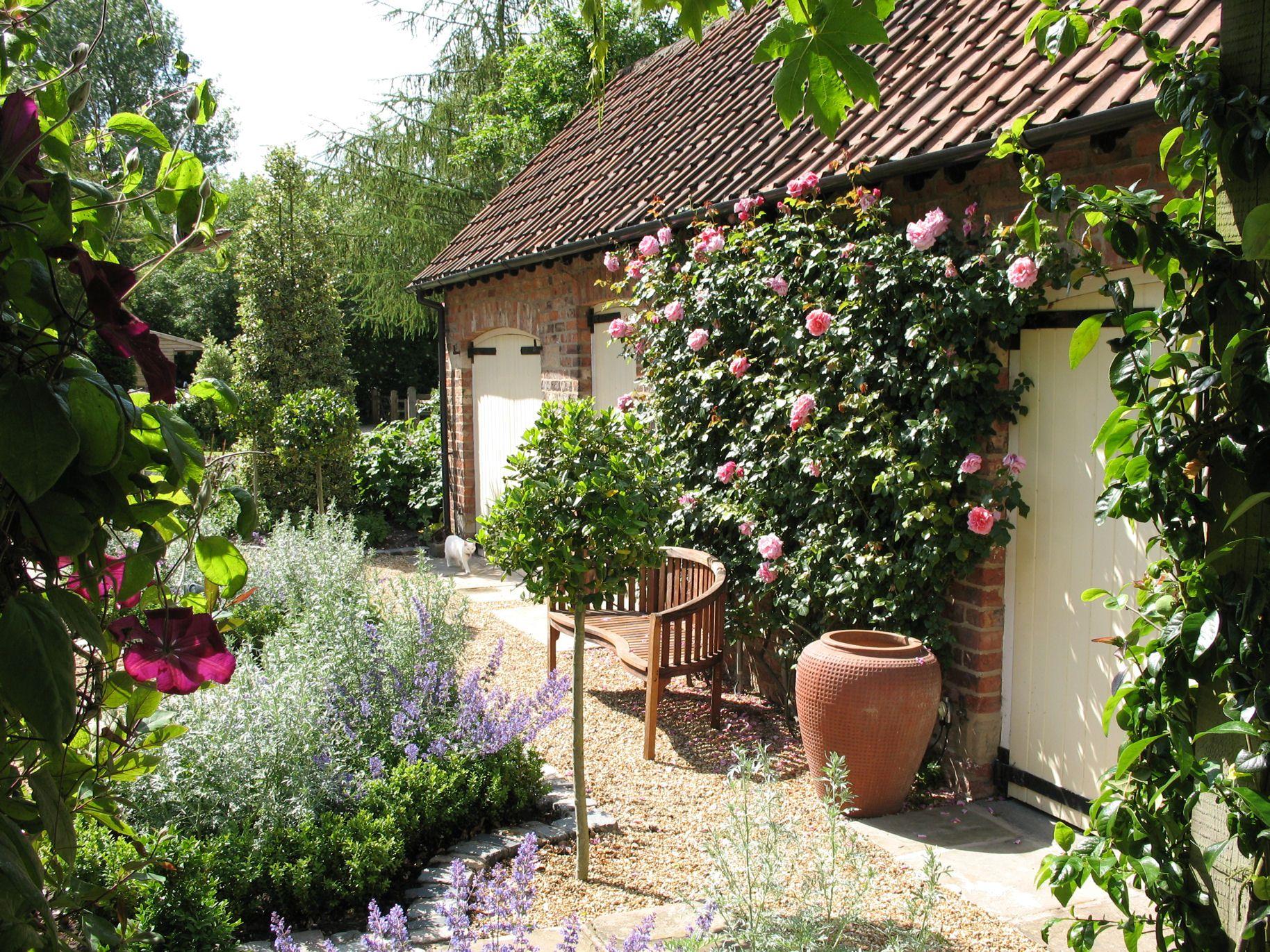 A formal courtyard garden near York Designer Garden Courtyards