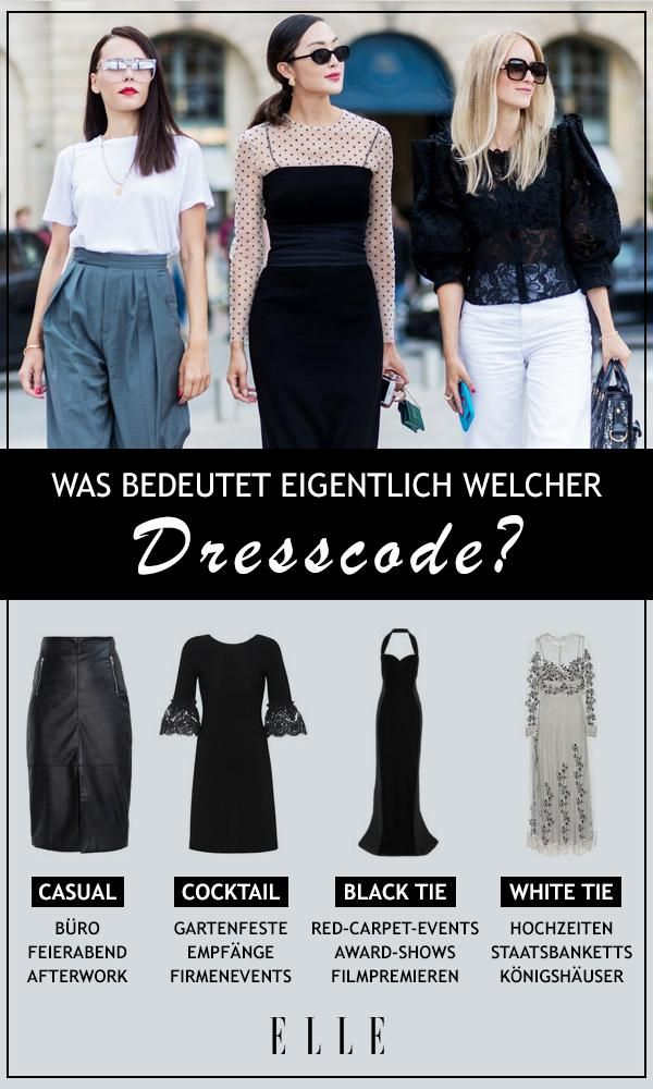 Was bedeutet welcher Dresscode | Kleiderordnung, Einhalten und ...