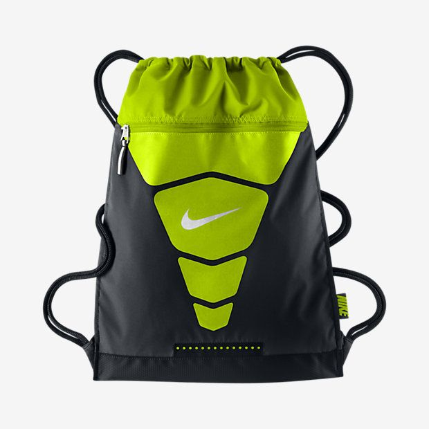 b84a19d6b0c7 Nike Vapor Gymsack Black Volt Metallic Silver Size One Size. Item  dimensions  weight  width  height  1693 hundredths-inches. Find this Pin  and more ...