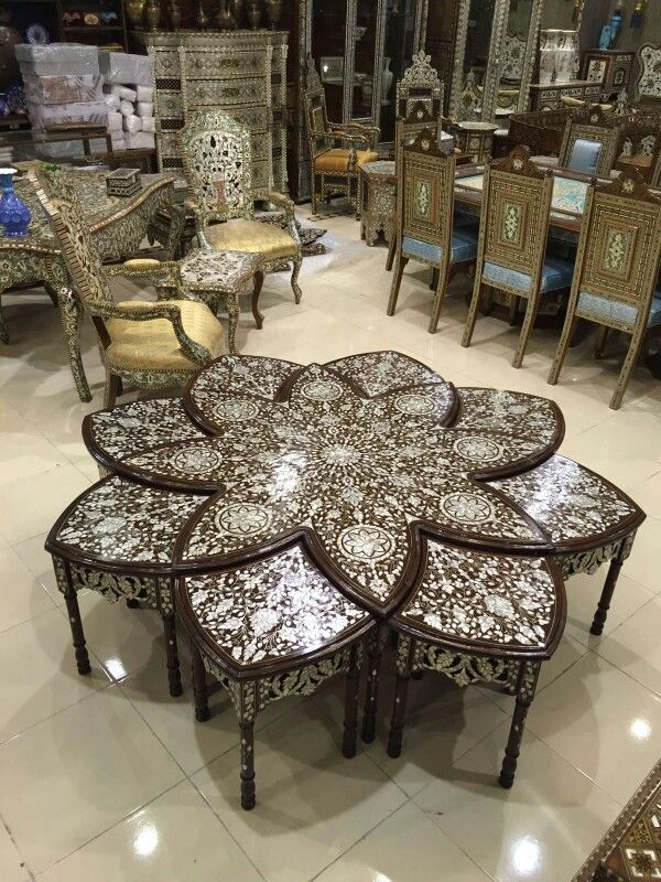 Syrian style   Upscale furniture, Geometric furniture ...