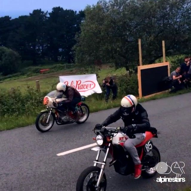 More fun from #WheelsandWaves in France. We hope you get out and have some fun this weekend.  Don't forget about your chance to win an #OscarbyAlpinestars jacket painted by @OrnamentalConifer  click the link in our bio to ENTER!