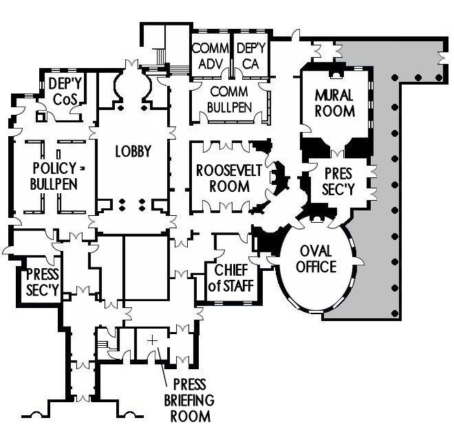 Cool Map Dealie Shows Layout Of West Wing Wings Tv West Wing Bartlett For America