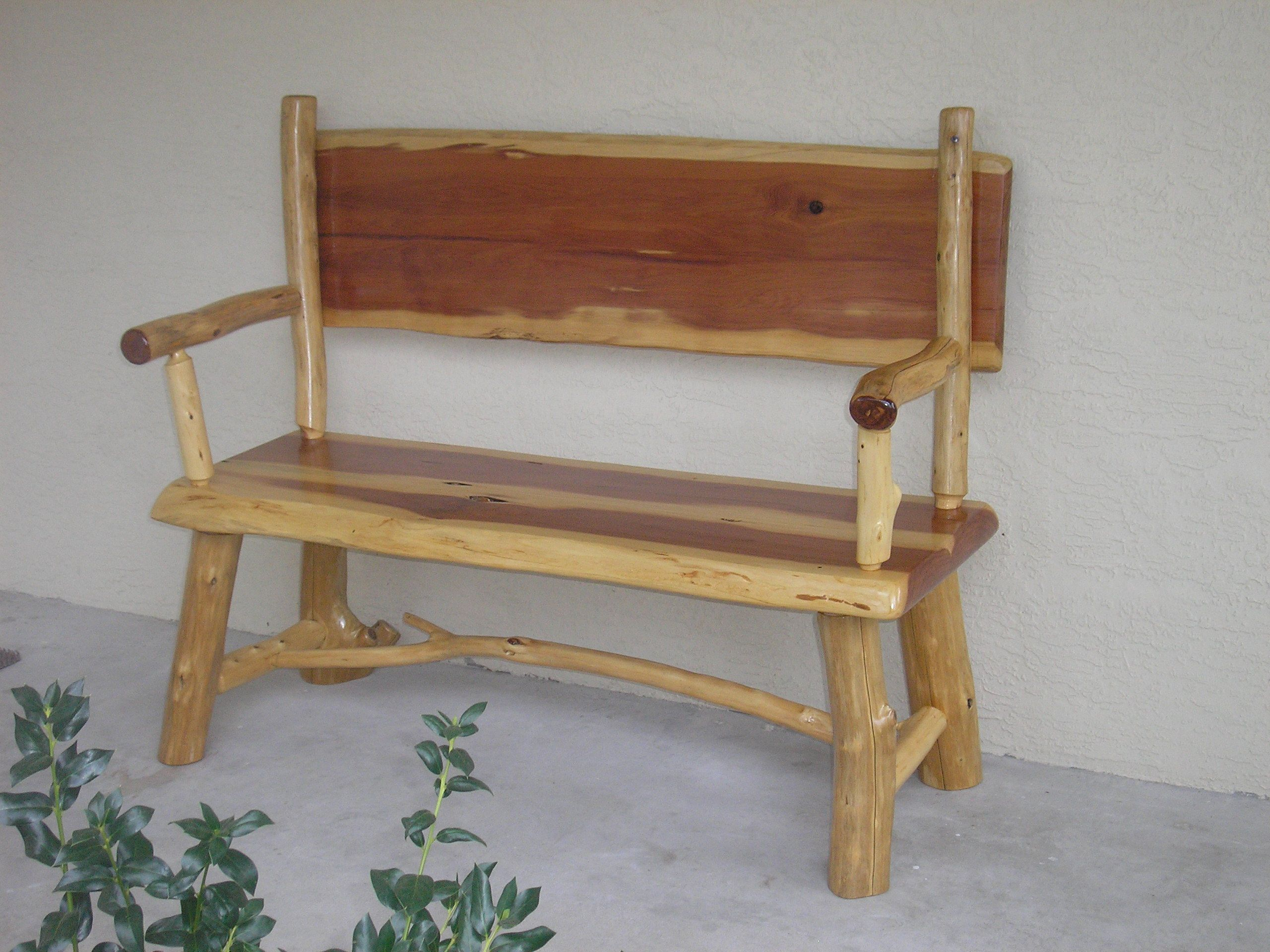 Rustic furniture rustic wood log bench picture cool Pictures of rustic furniture