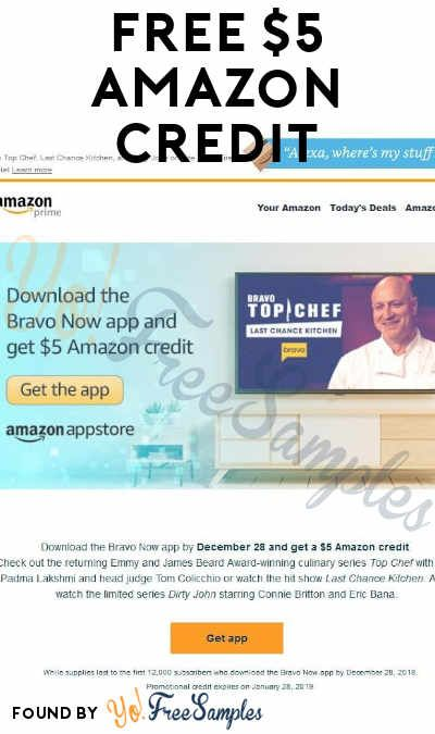 Back Again! FREE 5 Amazon Credit For First 12,000 To