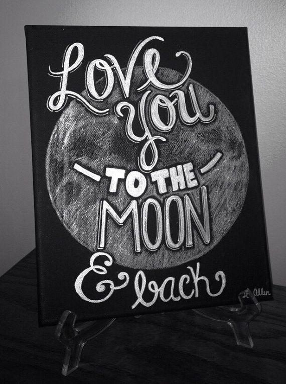 Love You To The Moon And Back Canvas Art By