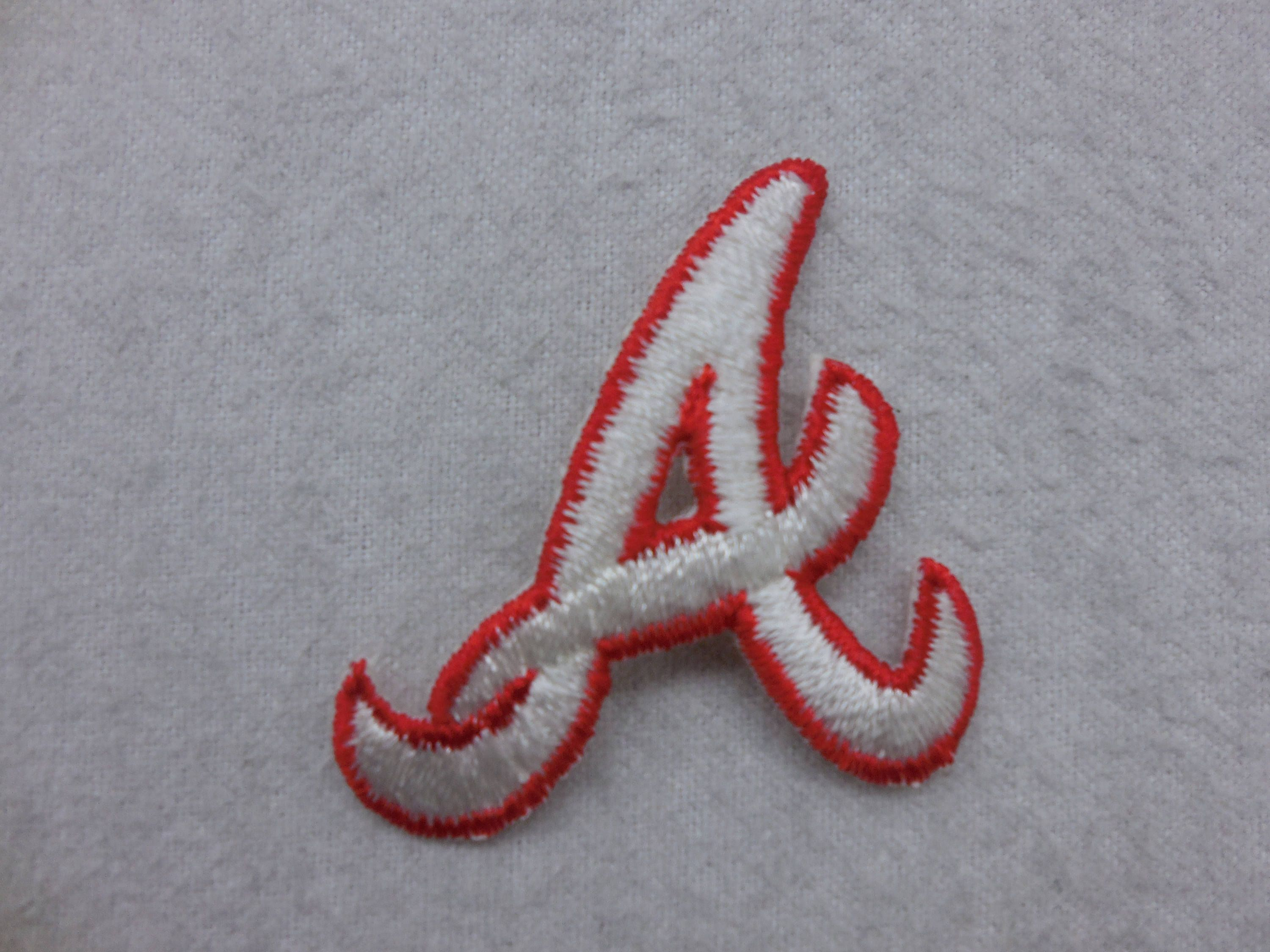 Atlanta Braves A Baseball Iron On Patch By Kcteedesigns On Etsy Iron On Patches Atlanta Braves Sew On Patches