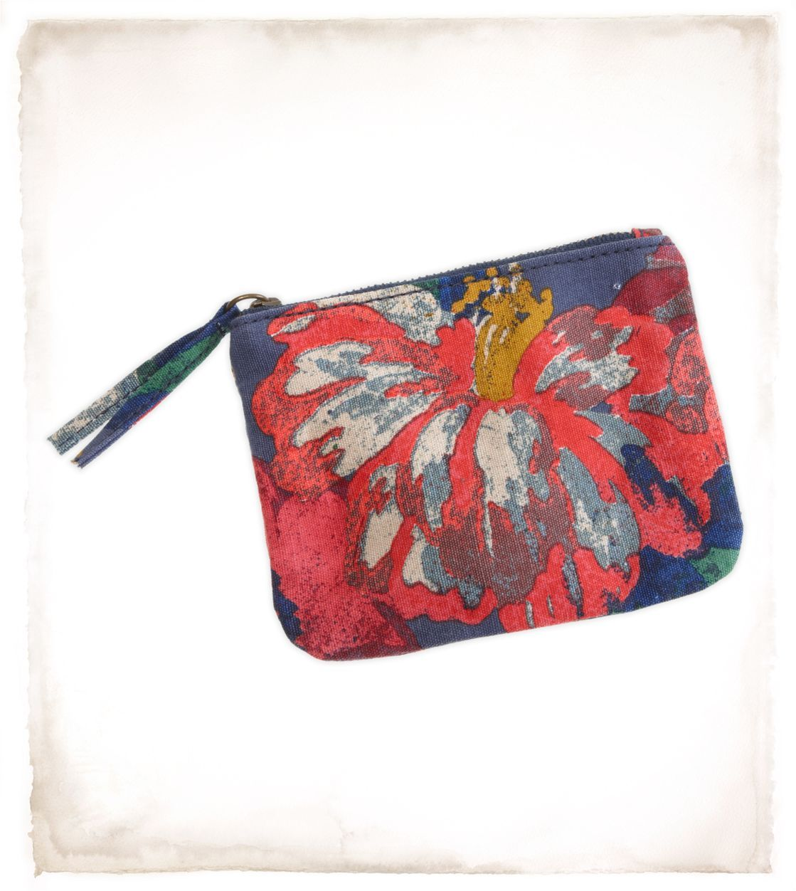 change purse with fabric tassel