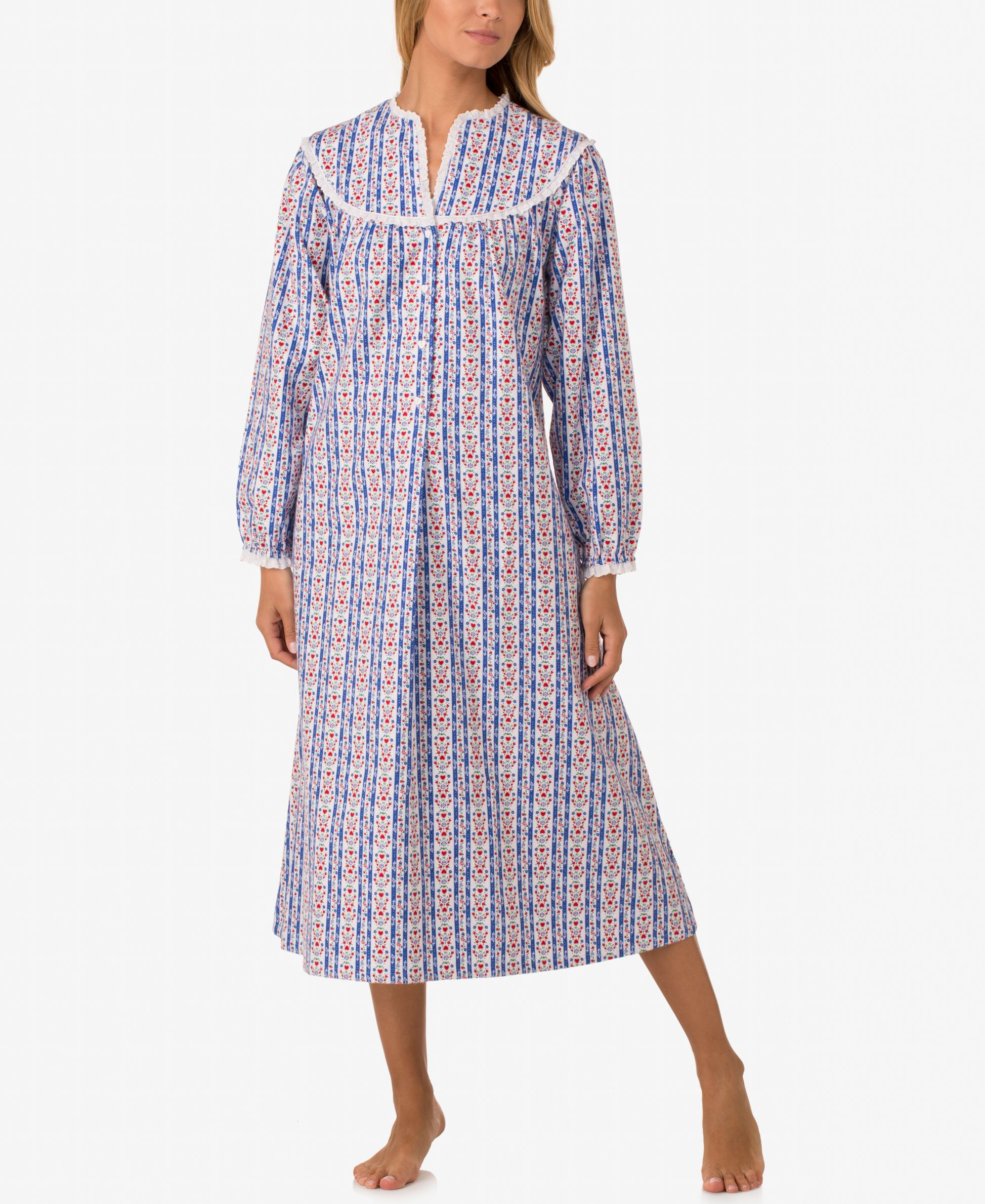 Lanz of Salzburg V-Neck Flannel Nightgown | Lanz of Salzburg ...