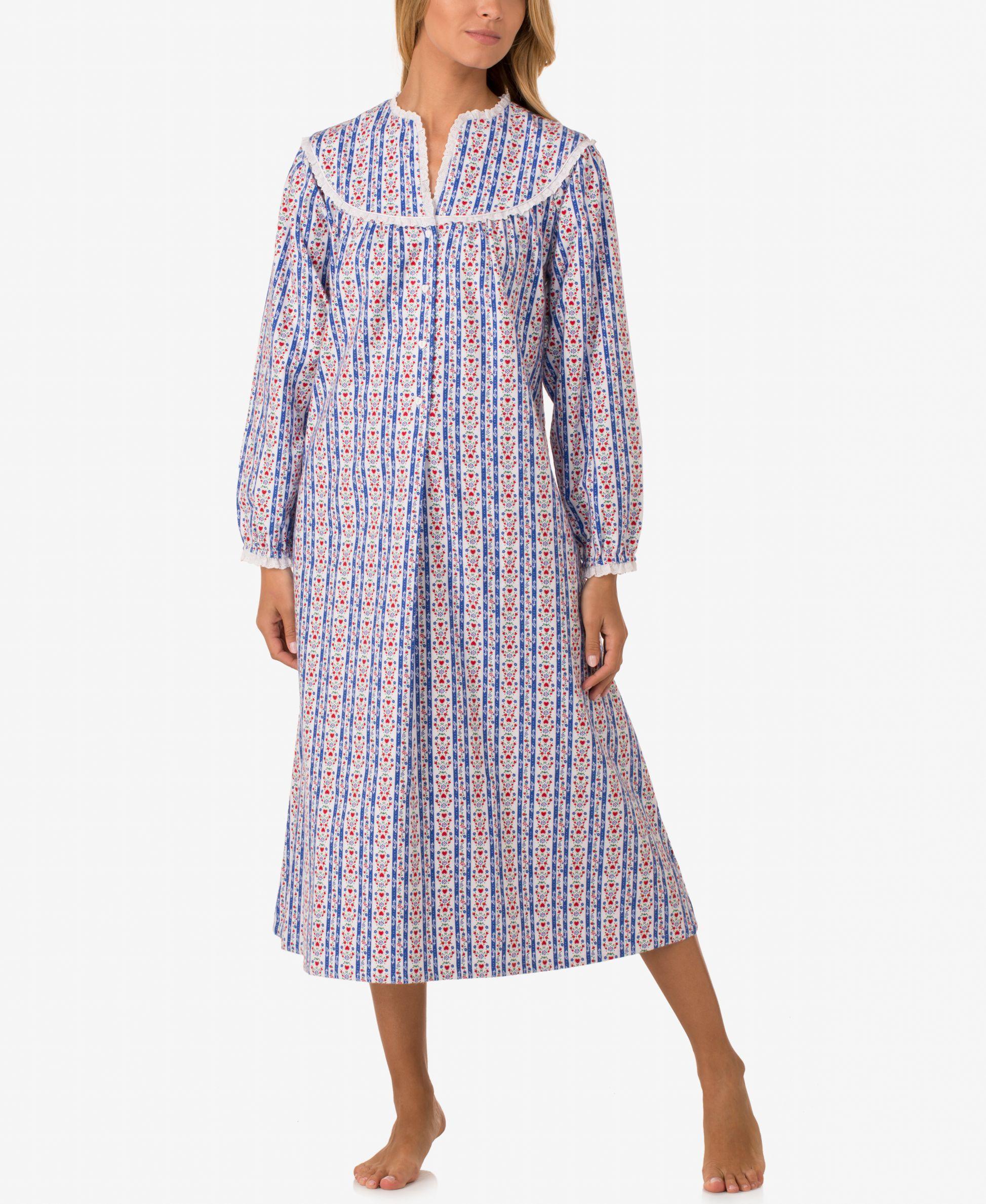 Lanz of Salzburg V-Neck Flannel Nightgown | Lanz of Salzburg ...