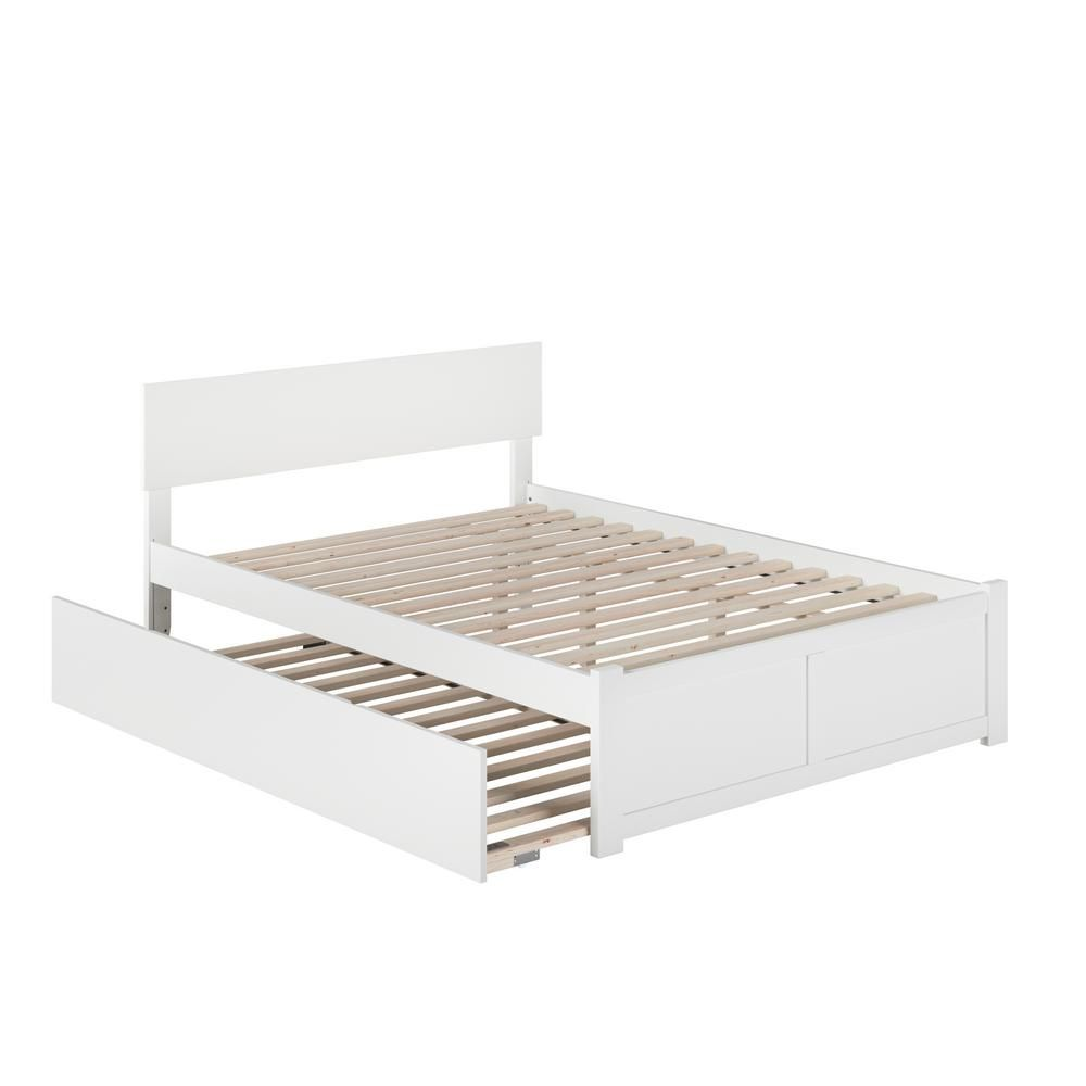 Atlantic furniture orlando white full platform bed with