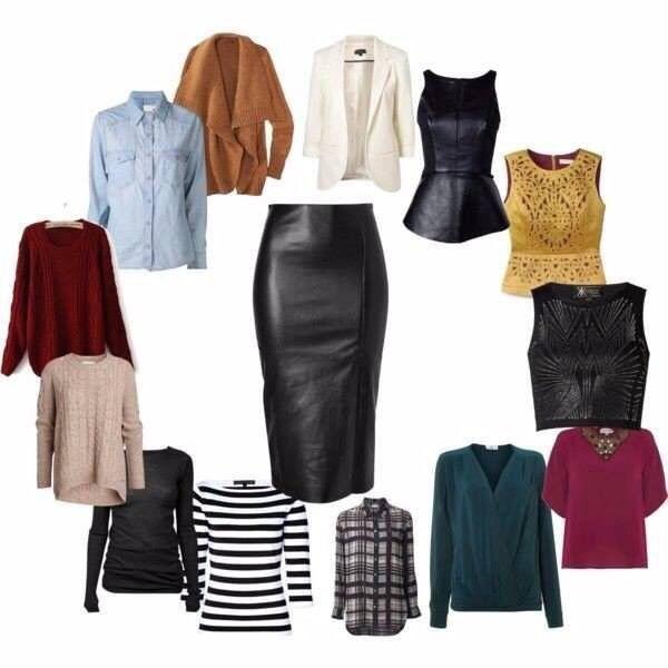 Was passt mit den Leder Röcke