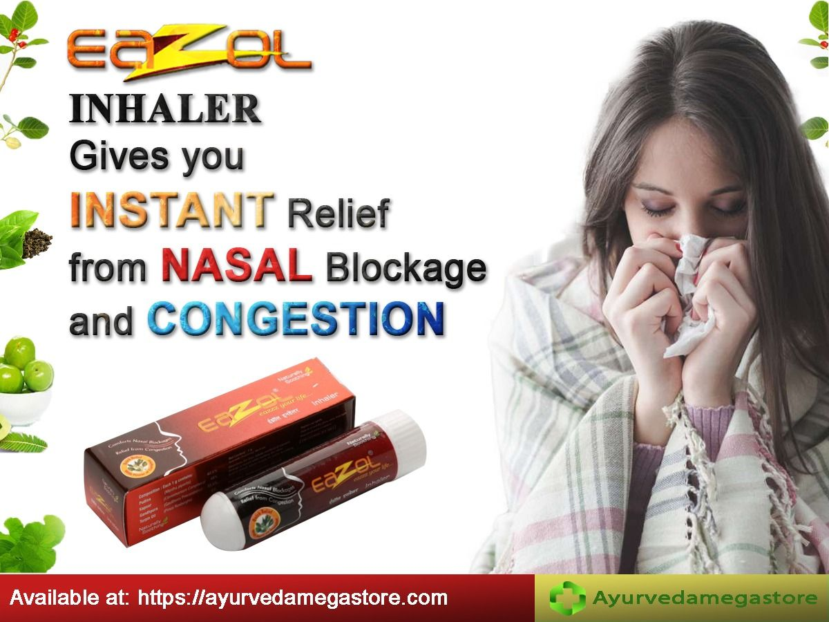 Eazol Inhaler Gives You Instant Relief From Nasal Blockage