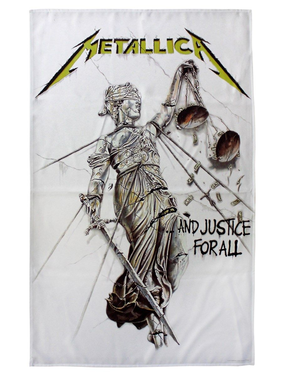 Metallica And Justice For All Textile Flag in 2020
